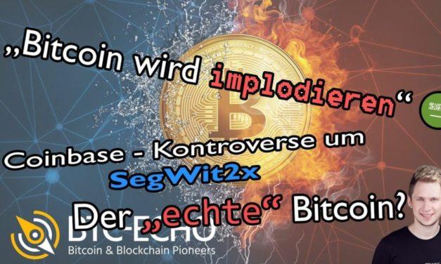 Video: BCH Anstieg, Angriff auf Bitcoin und SegWit2x-Debatte im Wochenrückblick