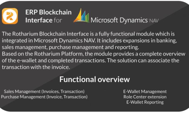 Rotharium EBI – ERP Blockchain Interface für Microsoft Dynamics NAV