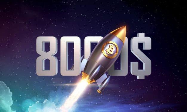 Bitcoin-Kurs (BTC) durchbricht 8.000 US-Dollar – Krypto-Markt im Aufwind