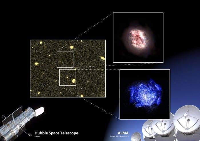 Zwei Galaxien aus frühem Universum ausfindig gemacht